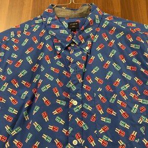 Jcrew shirt sleeve popsicle shirt